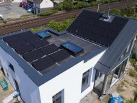 Innovative standing seam roofing for costal self-build eco-house