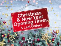 Christmas opening hours & deliveries