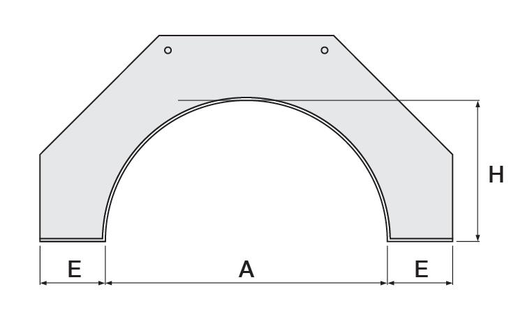 Semi Circular Arch 2D